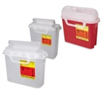 Sharps Container, 5.4 Quart Red