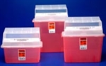 Sharps Container, 5 Qt. Jr., Transclucent Red