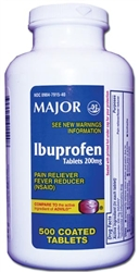 Ibuprofen, 200mg Tablets, 500/bottle