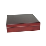 20 Count Cherry Humidor with Humidifer and Brass Hinges