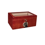 Savoy Mahogany Glass Top 25 Count Humidor