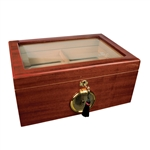 Savoy Mahogany Glass Top 50 Count Humidor