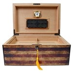 Carolina - 75 Count Humidor with Tray, Hygrometer, and Humidifier