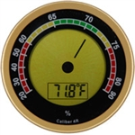 Western Caliber 4R Gold Digital Hygrometer