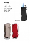 Lotus Vertigo Razor Double Flame Lighter (Various Colors)