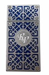 Rocky Patel Burn Double Flame Lighter - Navy Blue and Chrome