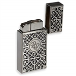 Rocky Patel Burn Double Flame Lighter - Black and Gunmetal