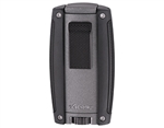 Xikar Turismo Double Flame Lighter - Matte Gray
