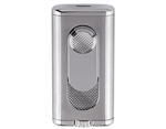 Xikar Verano Single Flat Flame Lighter - Silver