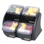 Dome Stacker - Mini 2/2 (4) 2 Qt Deep Trays