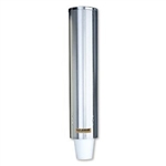 Pull-Type Foam Bev Cup Dispenser - Stainless Steel