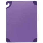 Allergen Saf-T-Zone® Cutting Board w/Saf-T-Grip - Purple