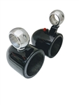 "Krypt 6.5"" Black Wakeboard Tower Speaker Cans"