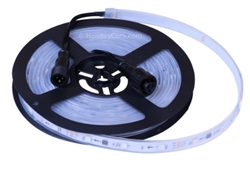 Smart / Pixel RGB LED Strip 30 LEDs/m 10 Pixels/m / Pre-Attached 6 Inch Waterproof Cables / Waterproof Tube (16ft-6in/5 meter Roll) - 12v / 2811 / RGB Color Output Order