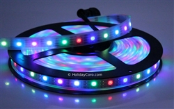 Smart / Pixel LED RGB Strip 30 LEDs/m 30 Pixels/m Waterproof Tube (16ft-6in/5 meter Roll) - 12v / INK1003 (WS2811 clone) - With Waterproof Plug