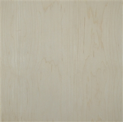 "1/2"" Prefinished C Grade Rotary Cut White Maple - 2 Rotary White Maple Back 24""x24"""