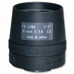 "12FM06T 1/2"" 6mm F/1.4 Monofocal Manual Iris Lens"