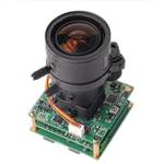 KT&C ACE-EDR380NUV18 700TVL True WDR Module Camera, 0.08Lux(Color)/0.04Lux(B/W), 2.8-12mm Varifocal Auto Iris Lens