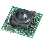 KT&C ACE-M381NHP1 550TVL Color Board Module Camera, 3.7mm Semi Cone Pinhole Lens