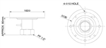 KT&C KA-HDSPDCB Optional Ceiling Mount Pendant (Short) for KPT-SPDN120HD