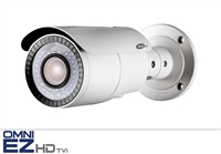 KT&C KEZ-c1BR28V12IR 720p HD-TVI Outdoor Bullet, 2.8mm Varifocal Megapixel Lens, 131' Smart IR Range, True Day/Night, IP66 Weatherproof