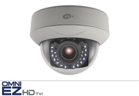 KT&C KEZ-c1DI28V12IR 720p HD-TVI Indoor IR Dome, 2.8-12mm Megapixel Varifocal, 100' Smart IR Range, True Day/Night