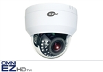 KT&C KEZ-c2DI28V12IRW 1080p HD-TVI Indoor Dome with IR, 2.8-12mm 2 Megapixel Lens, 66' Smart IR Range, Digital Day/Night, White