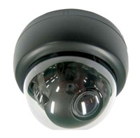 KT&C KPC-DQ100NHB 550TVL Indoor Compact Color Dome Camera, 3.6mm Board Lens, DC12V, Black