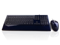 KYB-IMAGE-UBLUBK - Accuratus Image Set - USB Slim Full Size Keyboard & Mouse with Piano Blue Glossy Finish
