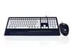 KYB-IMAGE-UBLUWH - Accuratus Image Set - USB Slim Full Size Keyboard & Mouse with Piano Blue Glossy Finish