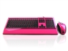KYB-IMAGE-UPINBK - Accuratus Image Set - USB Slim Full Size Keyboard & Mouse with Piano Pink Glossy Finish