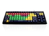 KYB-MON2MIX-LCUH - Accuratus Monster 2 - USB Mixed Colour Lower Case Childrens Keyboard for Learning with Extra Large Keys & 2 Port USB Hub