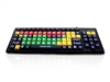 KYB-MON2MIX-UCUH - Accuratus Monster 2 - USB Mixed Colour Upper Case Childrens Keyboard for Learning with Extra Large Keys & 2 Port USB Hub