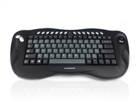 KYB-TOUGHBALL2 - Accuratus Toughball 2 - Wireless 2.4GHz Multimedia Mini Keyboard with Trackball