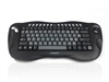 KYB-TOUGHBALL2FR  - Accuratus Toughball 2 French- Wireless 2.4GHz Multimedia Mini Keyboard with Trackball, French Layout Via Durable Stickers