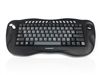 KYB-TOUGHBALL2GR  - Accuratus Toughball 2 German - Wireless 2.4GHz Multimedia Mini Keyboard with Trackball, German Layout Via Durable Stickers