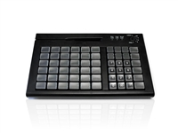 KYB500-S60CUSBBK - Accuratus S60C - USB Mini EPOS Keyboard with MSR, Keylock and 60 Fully Programmable Cherry MX Keys