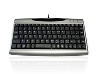 KYB803-00 - Accuratus 3000 - USB Mini Scissor Key Keyboard with Silver Case