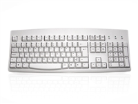 KYBAC260-PS2EURO - Accuratus 260 - PS/2 Full Size Professional Keyboard with Contoured Full Height Touch Typing Keys & Patented One Touch Euro Key