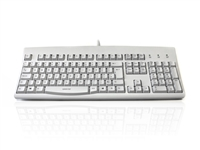 KYBAC260UP-LCWHT - Accuratus 260 Lower Case - USB & PS/2 Full Size Lower Case Professional Keyboard with Contoured Full Height Touch Typing Keys & Patented One Touch Euro Key