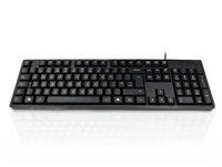 KYBAC276-3UPBK - Accuratus 276 V3 - USB & PS/2 Slim Space Saving Full Size Computer Keyboard