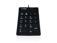 KYBNA-SIL-100CBK - Accuratus AccuMed 100 - USB Sealed IP67 Antibacterial Clinical / Medical Keypad