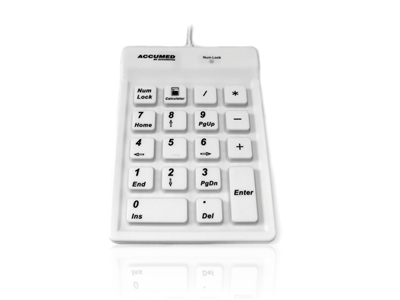 KYBNA-SIL-100CWH - Accuratus AccuMed 100 - USB Sealed IP67 Antibacterial Clinical / Medical Keypad