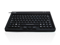 KYBNA-SIL-MINCBK - Accuratus AccuMed Mini - USB Mini Sealed IP67 Antibacterial Clinical / Medical Keyboard with Mousepad