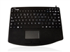 KYBNA-SIL540CV2B - Accuratus AccuMed 540 V2 - USB Mini Sealed IP67 Antibacterial Clinical / Medical Keyboard with Large Touchpad