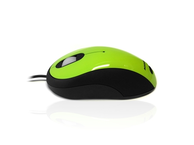 MOU-IMAGE-GREEN - Accuratus Image Mouse - USB Full Size Glossy Finish Computer Mouse - Green