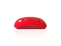 MOU-IMAGE-RF-RED - Accuratus Image RF - Wireless RF 2.4Ghz Sleek Slim Glossy Finish Optical Mouse with Nano Receiver - Red