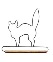 "5"" Black Cat Holder (Grey)"