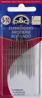 Needles-DMC Embroidery / Crewel Needles Assorted Sizes 5/10 16ct