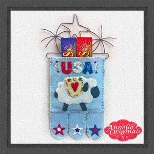 Mini-More Ewe Ray for the USA (Gift Holder & Hanging)